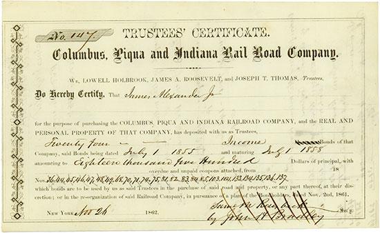 Columbus, Piqua and Indiana Railroad Company