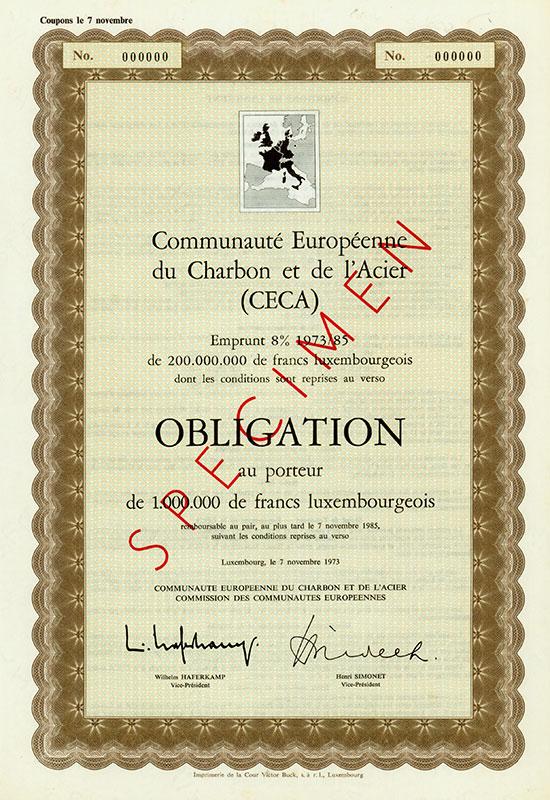 Communauté Européenne du Charbon et de l'Acier (CECA) / Europäische Gemeinschaft für Kohle und Stahl
