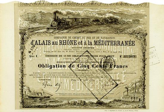 Compagnie de Chemin de Fer et de Navigation d'Alais au Rhône et à la Méditerranée