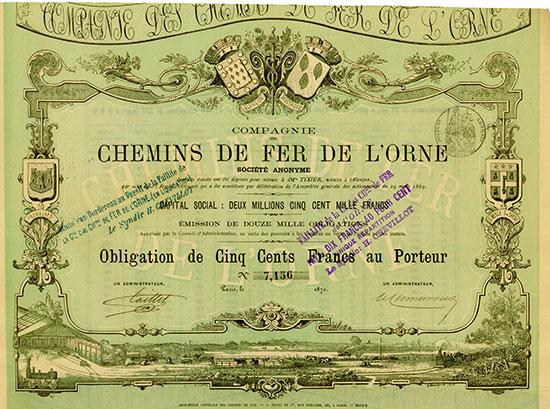 Compagnie des Chemins de Fer de L'Orne Société Anonyme