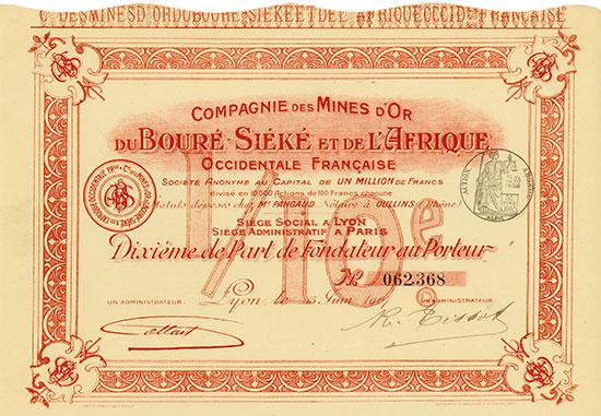 Compagnie des Mines d'Or du Bouré Siéké et de l'Afrique Occidentale Française