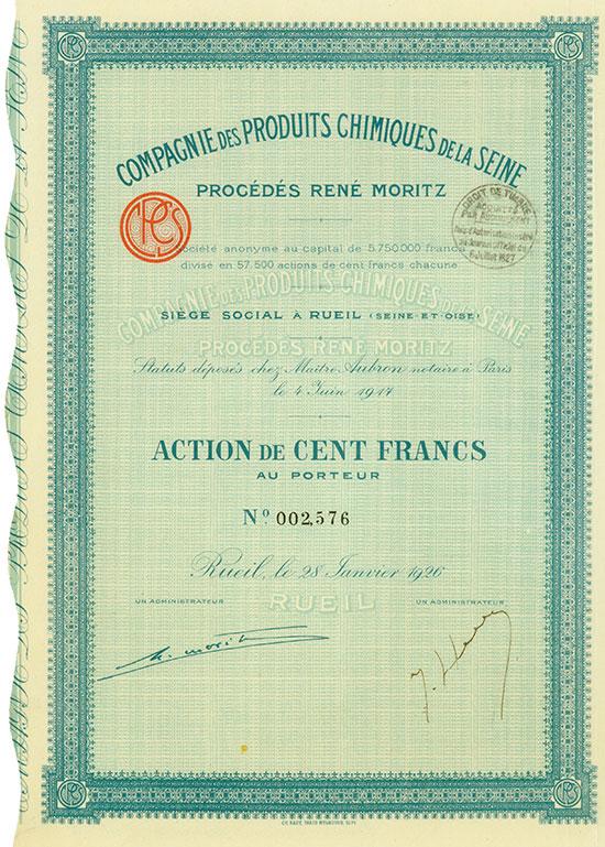 Compagnie des Produits Chimiques de la Seine - Procédés René Moritz