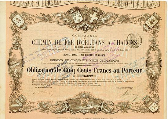 Compagnie du Chemin de Fer d'Orléans à Chalons Société Anonyme