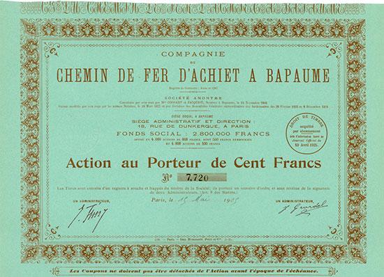 Compagnie du Chemin de Fer d'Achiet à Bapaume