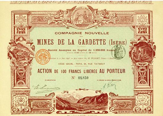 Compagnie Nouvelle des Mines de la Gardette (Isère) Société Anonyme