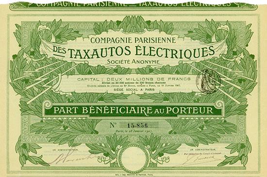 Compagnie Parisienne des Taxautos Électriques Société Anonyme