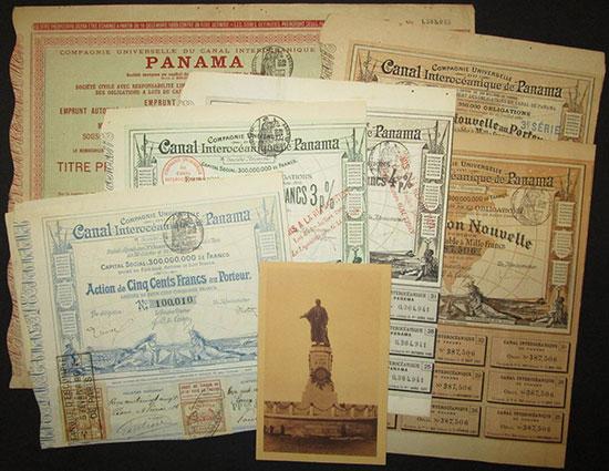 Compagnie Universelle du Canal Interocéanique de Panama [7 Stück]