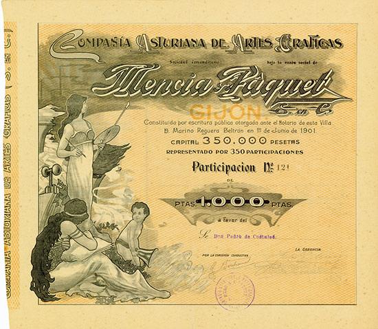 Compania Asturiana de Artes Graficas Mencia y Paquet S. en C.