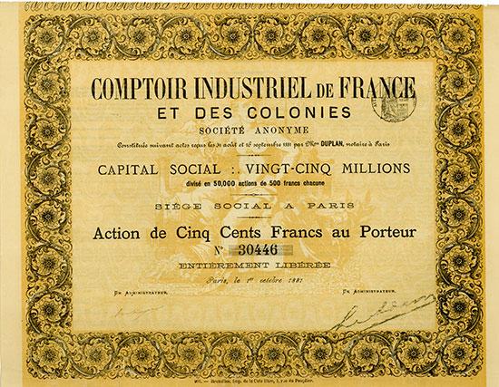 Comptoir Industriel de France et des Colonies