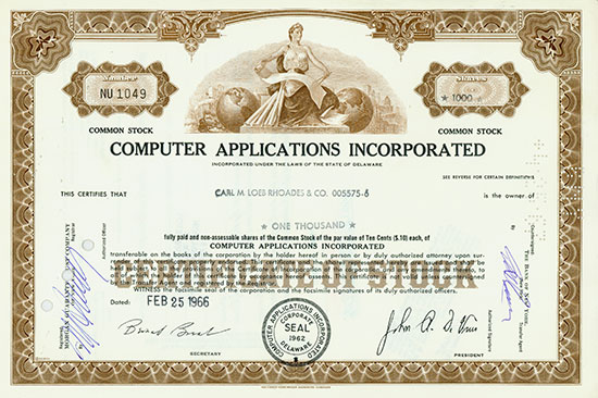 Computer Applications Incorporated [3 Stück]