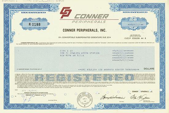 Conner Peripherals, Inc.