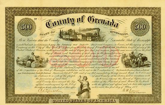 County of Grenada - Vicksburg and Nashville Railroad Company