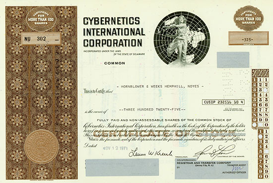 Cybernetics International Corporation [3 Stück]