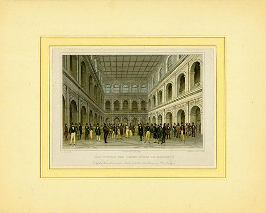Das Innere der Neuen Börse in Hamburg