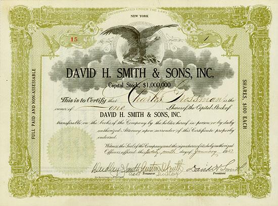 David H. Smith & Sons, Inc.