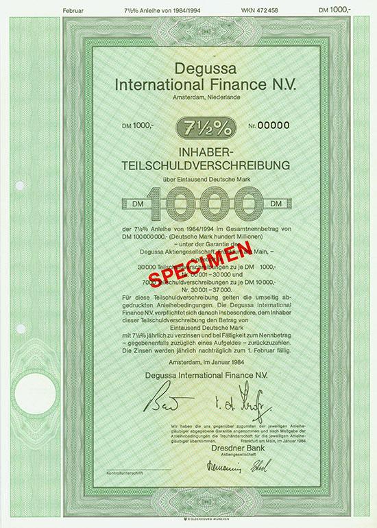 Degussa International Finance N.V.