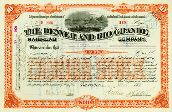 Denver and Rio Grande Railroad Company