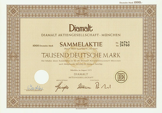 Diamalt AG [5 Stück]