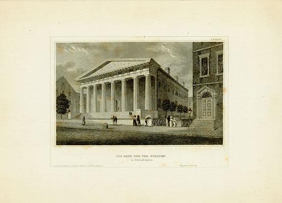 Die Bank der Ver. Staaten in Philadelphia