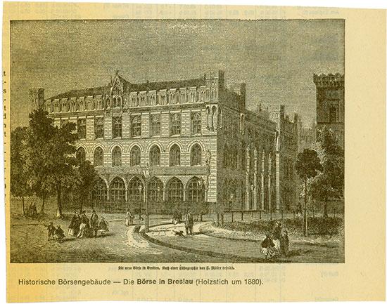 Die Börse in Breslau