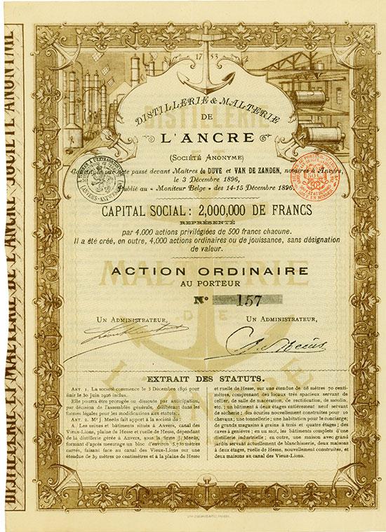 Distillerie & Malterie de l'Ancre (Société Anonyme)