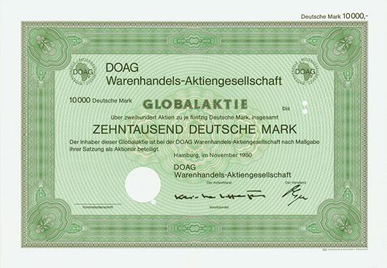 DOAG Warenhandels-AG