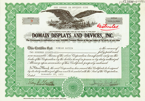Domain Displays and Devices, Inc.