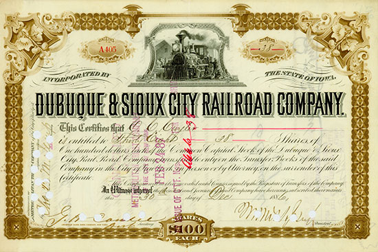 Dubuque & Sioux City Rail Road Company