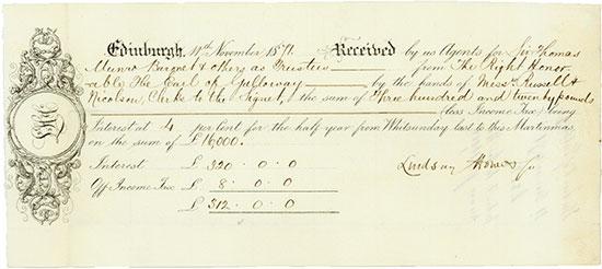 Edinburgh: Sir Thomas Munro, 2nd Baronet / Earl of Galloway