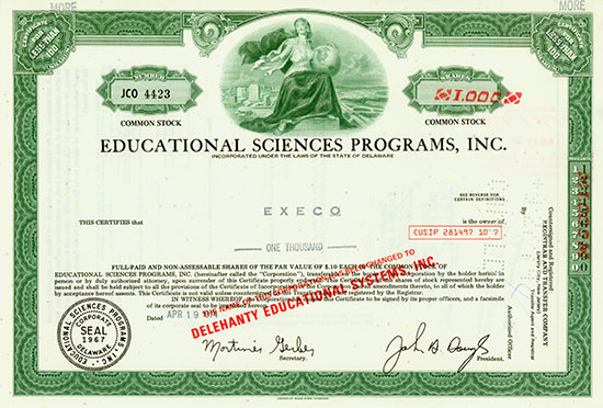 Educational Science Programs, Inc.