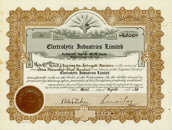 Electrolytic Industries Limited
