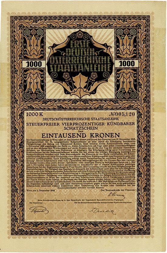 Erste Deutsch-Österreichische Staatsanleihe