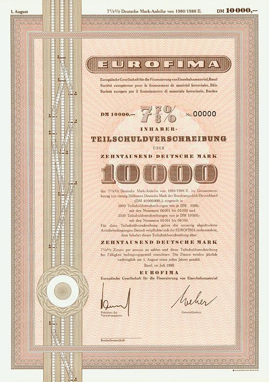 Eurofima - Europäische Gesellschaft für die Finanzierung von Eisenbahnmaterial