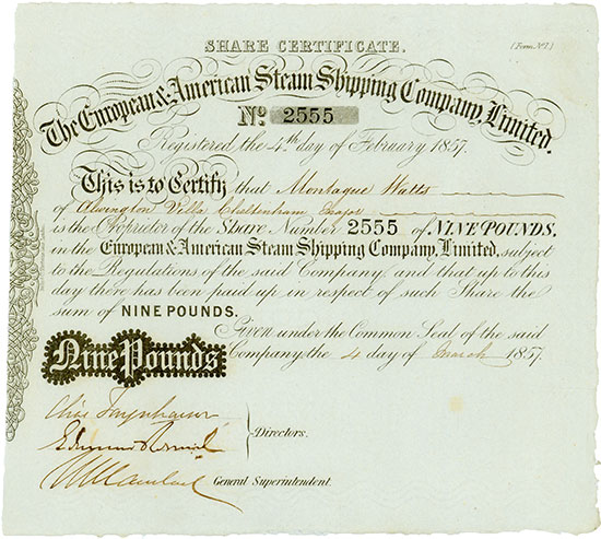 European & American Steam Shipping Company, Limited