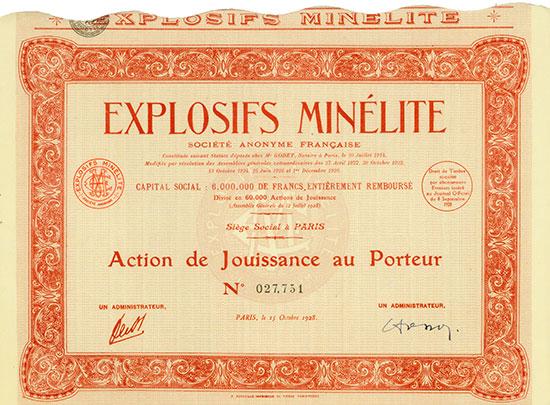 Explosifs Minélite Société Anonyme Française