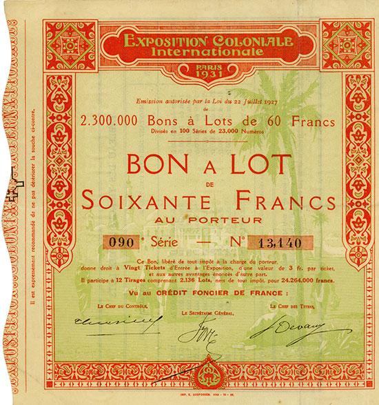 Exposition Coloniale Internationale Paris 1931