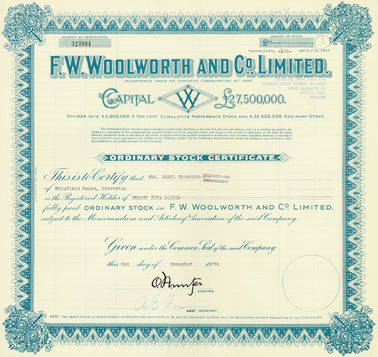 F. W. Woolworth and Co. Limited