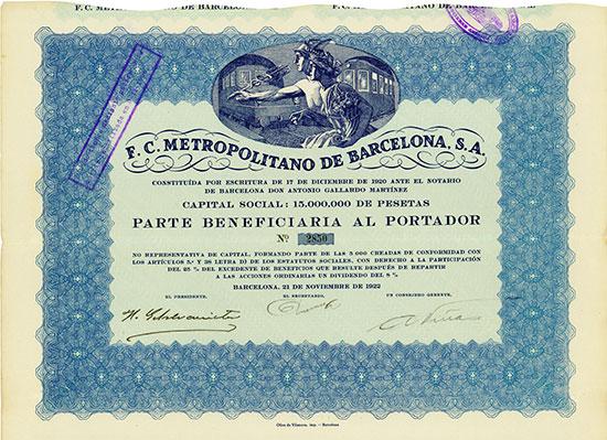 F.C. Metropolitano de Barcelona, S.A.