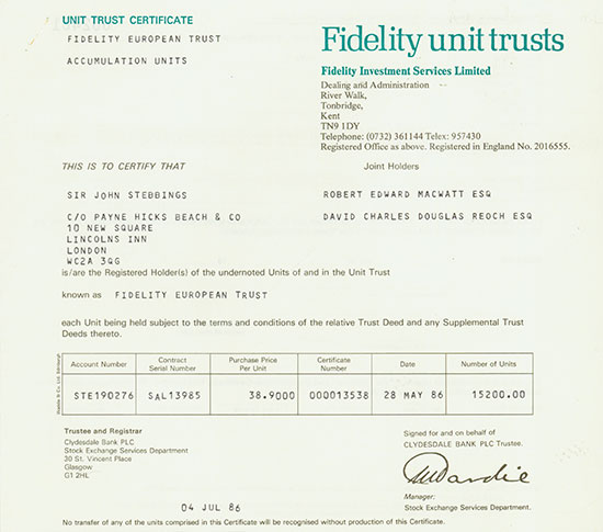 Fidelity Investment Services Limited