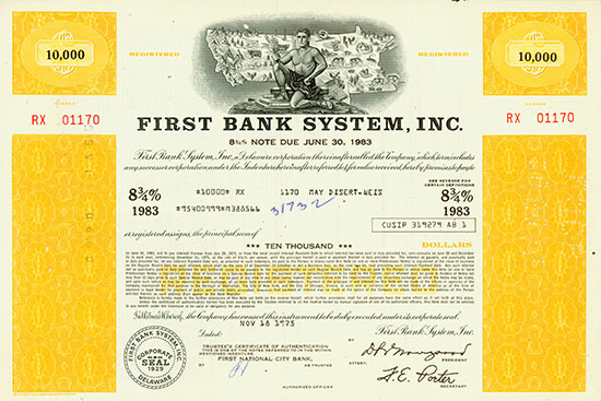 First Bank System, Inc.