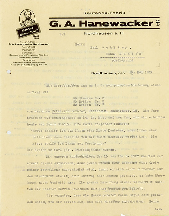 G. A. Hanewacker GmbH, Kautabak-Fabrik