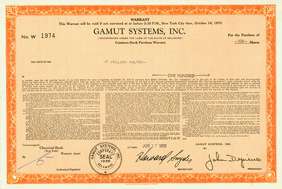 Gamut Systems, Inc.