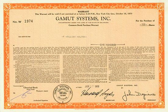 Gamut Systems, Inc.