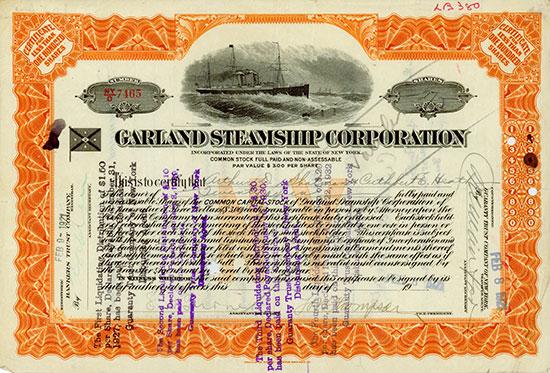 Garland Steamship Corporation [2 Stück]