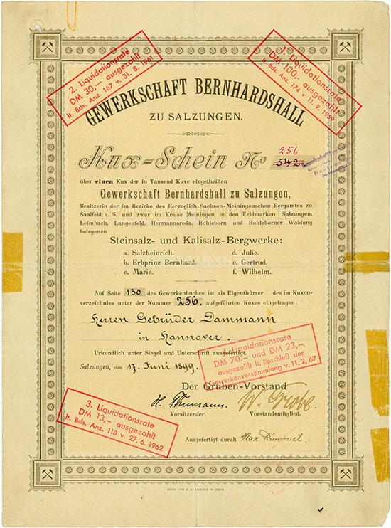 Gewerkschaft Bernhardshall zu Salzungen