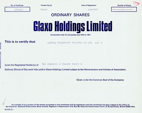 Glaxo Holdings Limited