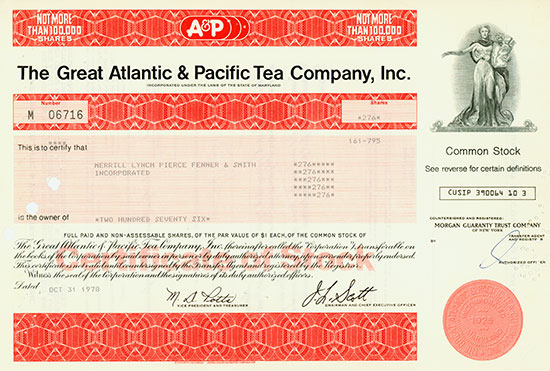 Great Atlantic & Pacific Tea Company, Inc.