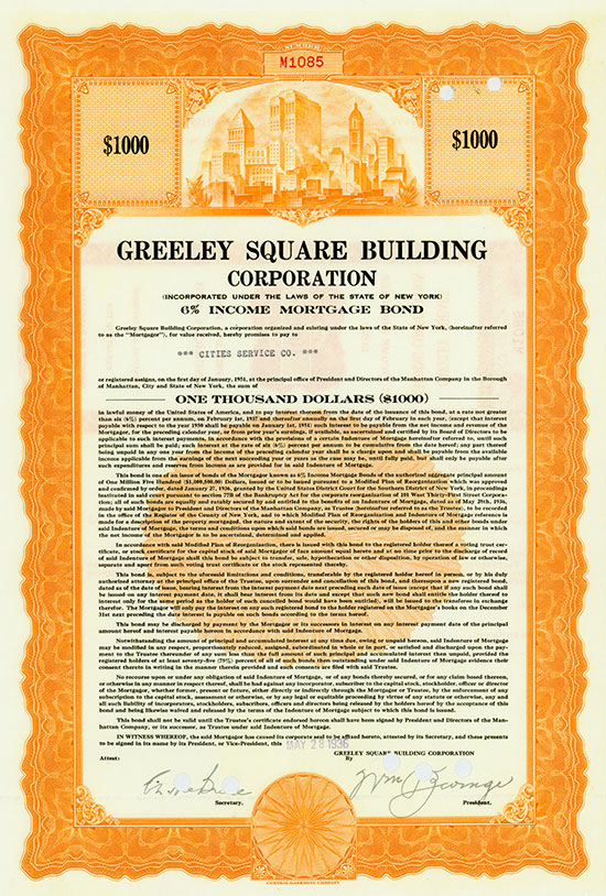 Greeley Square Building Corporation