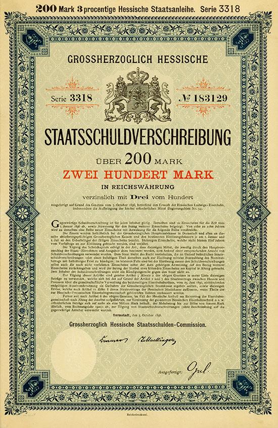 Grossherzoglich Hessische Staatsschuldenverwaltung
