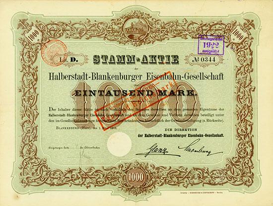 Halberstadt-Blankenburger Eisenbahn-Gesellschaft